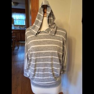 Hooded Dolman knit top (like new condition)